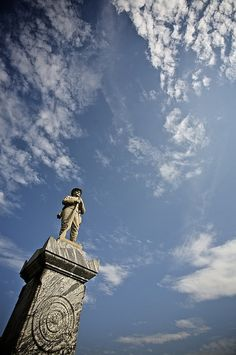 Confederate Monument, atop Myrtle Hill Cemetery.