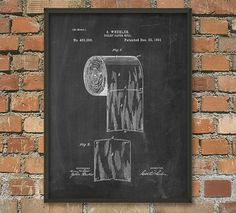 Hey, I found this really awesome Etsy listing at https://www.etsy.com/listing/210843900/toilet-roll-patent-wall-art-poster