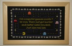 Retro Pac Man Video Game Cross Stitch