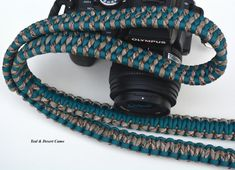 Handmade Paracord Camera Strap Trilobite Bar Weave by RainyDayzArt #ParacordCameraStraps #Gift #CameraAccessories #Photography #Giftforphotographer #Nikon #Canon #Olympus #DSLR
