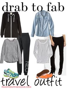 Drab to fab: Travel outfit idea - Working mom style advice: Frantic But Fabulous