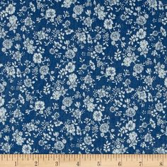 Telio Denim Floral Print Light Blue from @fabricdotcom  This lightweight fabric features a floral design on a finely woven denim. It has a soft hand and is breathable. It is perfect for making stylish shirts, blouses, dresses and skirts.