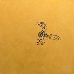 Fernando de La Rocque | Simples, 2014 acrílica sobre linho 50 x 50 cm — com Fernando de La Rocque em Artur Fidalgo galeria.
