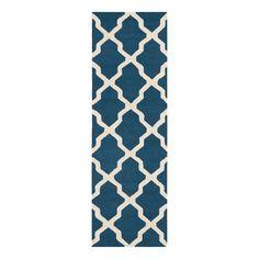 Teppich Ava - Blau / Weiß - 91 x 152 cm