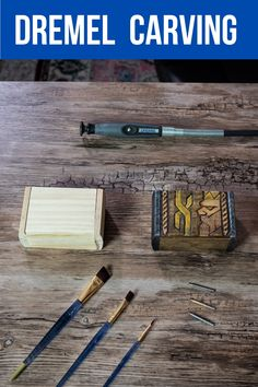 Learn how to wood carve with a Dremel tool in this short tutorial from Cornelius Creations Dremel Tool Projects, Wooden Projects, Cool Woodworking Projects, Woodworking Crafts, Dremel Ideas, Woodworking Jobs, Woodworking Patterns, Craft Projects, Dremel Werkzeugprojekte