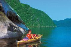 Kayac sur la rivière Saguenay