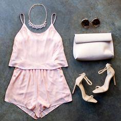 Play Date Romper #playdate #romper #pink #blush #nude #ootd #ootn #brunch #heels #gojane