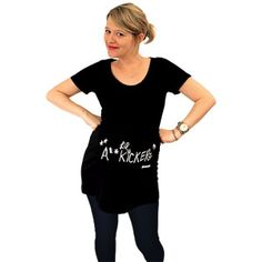 Do you know a Walking Dead fan that has a little zombie fighter on the way? The Walking Dead Lil' A** Kicker Maternity Top is the perfect way to show their TWD Pregnancy Humor, Pregnancy Shirts, Pregnancy Wear, Maternity Tees, Funny Maternity, Maternity Style, Cut Tees, Kids Fashion, T Shirts For Women