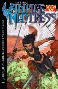 """""""L.A. Banks' Vampire Huntress #3: The Hidden Darkness"""" The Neterus and worldwide Guardian teams have defeated Satan's top demon, The Thirteenth. Written by New York Times bestselling author L.A. Banks, The Vampire Huntress Legends: The Hidden Darkness is an original story that takes place after the epilogue in the 12th and final book in the Vampire Huntress series of novels and should not be missed by her fans or anyone who enjoys great paranormal fantasy!"""