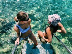 #greecetravel #greece #fashion #aesthetic #summer #summerstyle #sea #blondehair #brunnette Dares, Bikinis, Swimwear, Cute, Travel, Fashion, Bathing Suits, Moda, Swimsuits