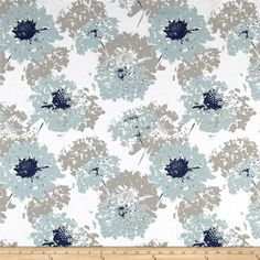 Premier Prints Fairy Spa Blue from @fabricdotcom Screen printed on cotton duck, this versatile medium-weight fabric is perfect for window accents (draperies, valances, curtains, and swags), accent pillows, duvet covers, and upholstery projects. Colors include navy, light blue, white, and taupe grey.