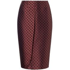 Alexander Lewis Red Silk Tenisha Skirt ($235) ❤ liked on Polyvore featuring skirts, bottoms, gonne, red, silk skirt, red silk skirt, red knee length skirt, metallic skirt and red skirt