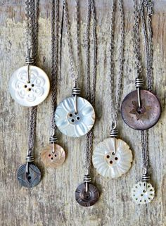 ❥ Button pendants