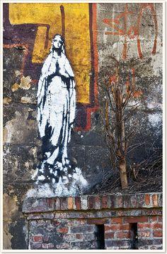 Vierge Marie, Graffiti, Poland