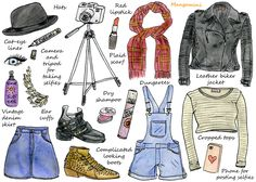 How To Look Like A Fashion Blogger - Mangomini's illustrated how-tos for Hello Giggles