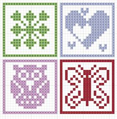 Crochet / knit / stitch charts and graphs Knitting Charts, Knitting Stitches, Knitting Patterns, Crochet Patterns, Cross Stitching, Cross Stitch Embroidery, Embroidery Patterns, Cross Stitch Patterns, Fillet Crochet