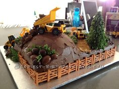 """A Realistic Construction """"Wow"""" Cake that Stole the Show! ... This website is the Pinterest of birthday cakes"""