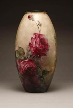 Painted porcelain plates and vases by Franz Bischoff: art_glass