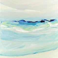 Modern beach art sea abstract ocean painting original art