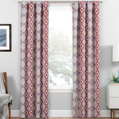 Van Siclen Geometric Blackout Thermal Rod Pocket Single Curtain Panel