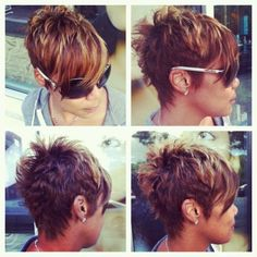 My next haircut. (Really short and textured at the back, longer and asymmetrical in the front.)