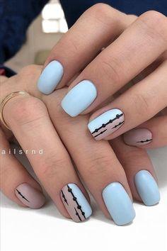Blue short square nails of somber ease Beautiful short natural square nails design natural short sqaure nails design, acrylic short square nails winter, winter nails ,spring Square Nail Designs, Short Nail Designs, Stripe Nail Designs, Cute Acrylic Nails, Acrylic Nail Designs, 3d Nails, Stiletto Nails, Winter Nails, Spring Nails