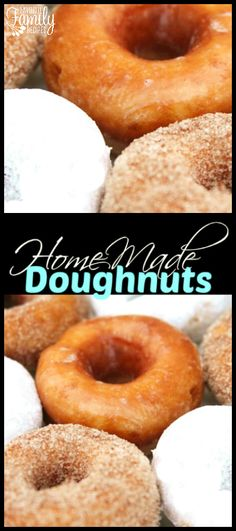 These Homemade Doughnuts are light and delicious! We coated some with cinnamon and sugar, some with powdered sugar, and even glazed a few. via @favfamilyrecipz