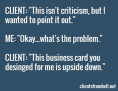 Upside down Business Card  #ux #uxjobs #funny