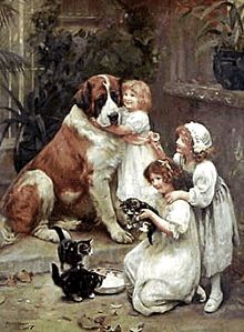 Nostalgia animals Graphics and Animated Gifs Home Bild, Munier, Illustration, Oil Painting Reproductions, Victorian Art, Dog Paintings, Girl And Dog, Dog Art, Animals For Kids