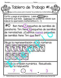 Matemáticas en mayo: resolviendo problemas en cuentos  Grados 1-2