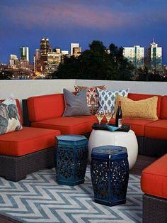 garden seat azul
