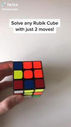 Amazing Life Hacks, Simple Life Hacks, Useful Life Hacks, Diy Crafts Hacks, Fun Crafts, Diy And Crafts, Rubiks Cube Patterns, Solving A Rubix Cube, Everyday Hacks