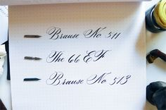 Review of Brause pen nibs for calligraphy.