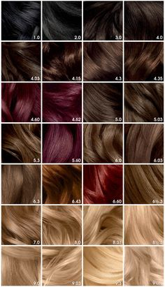 2019 year for women- Color Hair charts