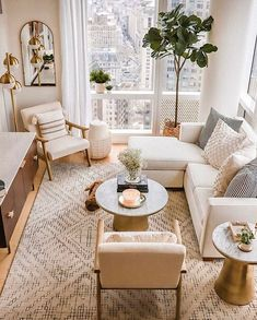 Small Apartment Living, Home Living Room, Small Living Rooms, Living Room Interior, Small Apartment Interior Design, Modern Living, Decorating Small Apartments, Living Room On A Budget, Living Room Decor Ideas Apartment