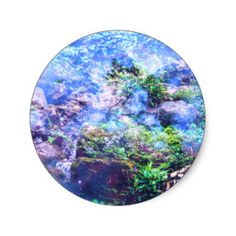 Tranquility Falls Classic Round Sticker
