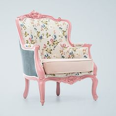 Funky Furniture, Upholstered Furniture, Repurposed Furniture, Diy Chair, Girls Bedroom, Accent Chairs, Armchair, Shabby Chic, Design Inspiration