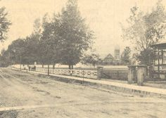 Early 1900's pic of Fishburne Military School fence with First Baptist Church in background.