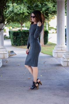 Style Stun//Sweater Dress Down East