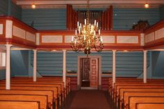 Interior of Hovin kirke, Tinn, Telemark, Norway. (Rue ancestors)