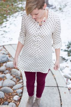 Mila Shirt and Dotted Rayon Sateen: An Indiesew Collaboration | Right Sides Together