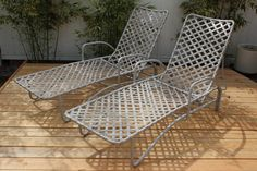 The perfect lounges for a modern Atrium or courtyard. For sale by Deja Vu on Etsy for $1,250.00