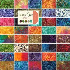 "Moda ISLAND SUN BATIKS Precut 5"" Charm Pack Fabric Cotton Quilting Squares 4322PP by Moda Fabrics, http://www.amazon.com/dp/B00BPDNY04/ref=cm_sw_r_pi_dp_PhnRrb0EVANKK"