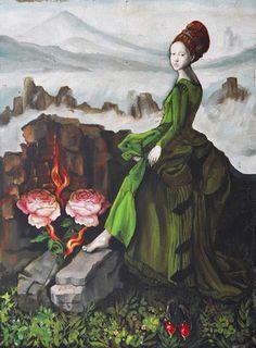 robe verte / green dress - Burning Desire - Margo Selski