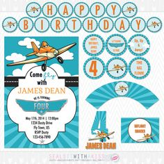Dusty Crophopper Disney Planes Birthday Party por SealsItWithAKiss