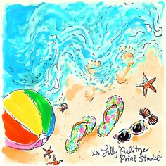 Start this loooooong weekend off right with free… Lilly Pulitzer Patterns, Lilly Pulitzer Prints, Lily Pullitzer, Beach Art, Summer Fun, Summer Loving, Happy Summer, Summer Days, Summer Vibes