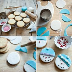 Follow our step-by-step guide to making these cute snowman biscuits. A great Christmas treat for children.