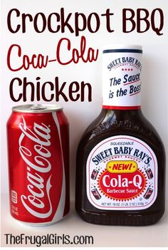 On the hunt for another tasty Crockpot Meal and Easy Dinner Recipe? You're going to love Crockpot BBQ Coca-Cola Chicken. it's incredibly easy to make, and full of spicy kick!} My friend Su. Crock Pot Food, Crockpot Dishes, Crock Pot Slow Cooker, Slow Cooker Recipes, Cooking Recipes, Crockpot Meals, Crock Pot Ribs, Cooking Tips, Crock Pots