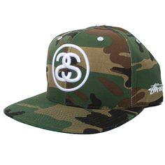 Stussy SS Link Snapback Hat (Olive Camo)  23.95 c10967370a0