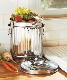red metal kitchen compost caddy composting bin for food waste recycling amazoncouk kitchen u0026 home general store pinterest recycling